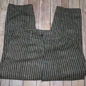 Ann Taylor LOFT Printed Original Crop Pants Size 4